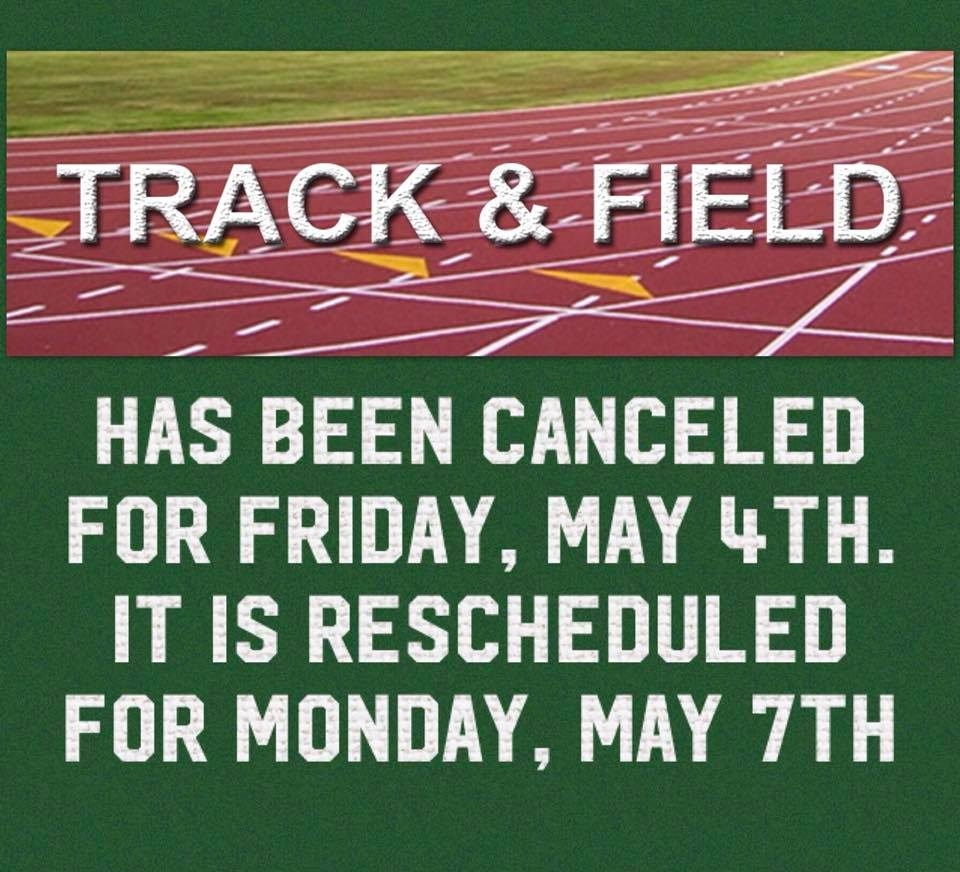 Track and Field Day Moved