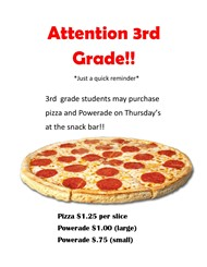 3rd Grade Pizza Flyer