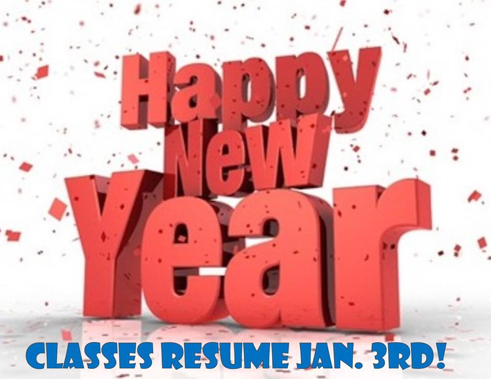 Classes Resume January 3