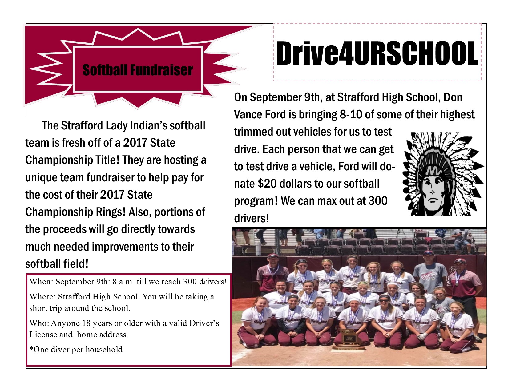 Softball Ford Fundraiser