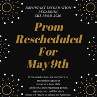 Prom Rescheduled