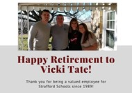Vicki Tate Retirement