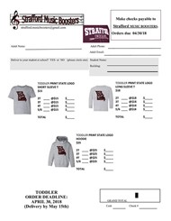 Youth Apparel Order