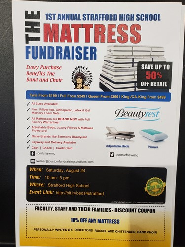 Band Boosters Mattress Sale
