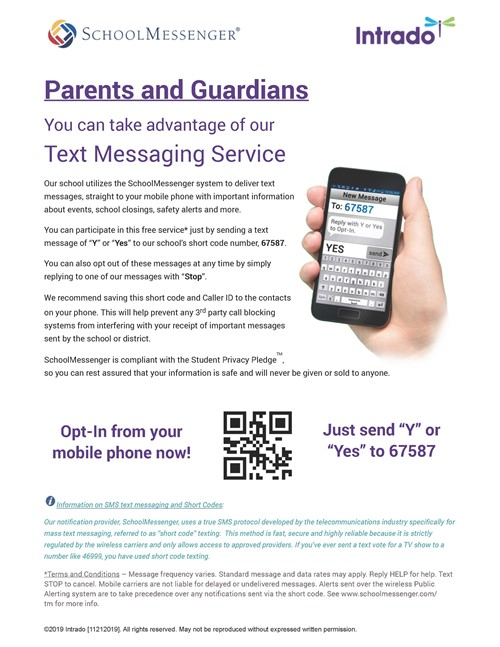 Opt In for Texts