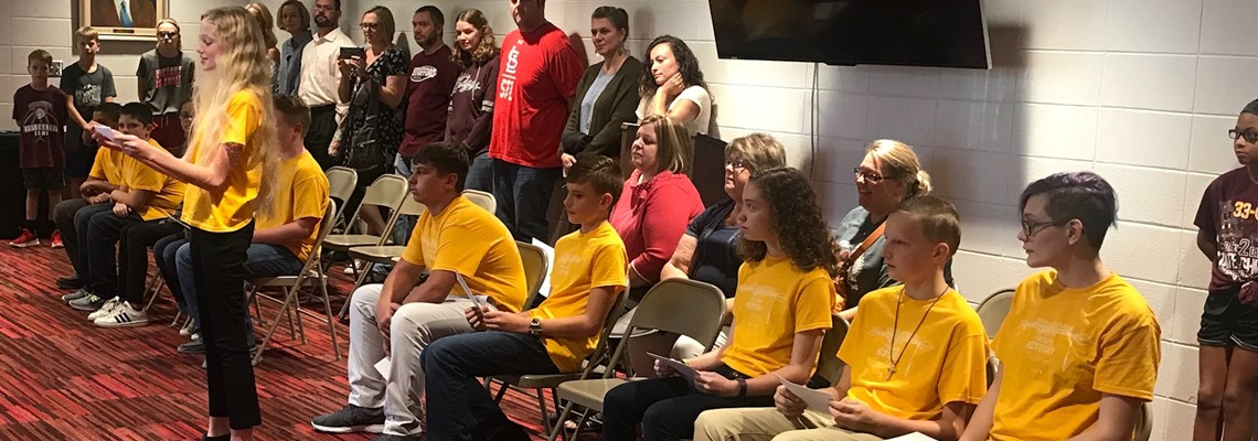Middle School Gifted at School Board Meeting